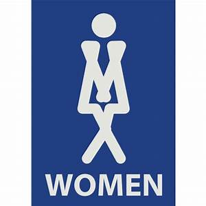 Womens bathroom sign for Women only bathroom sign