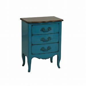 Commode 3 Tiroirs : commode 3 tiroirs bleu interior 39 s ~ Teatrodelosmanantiales.com Idées de Décoration