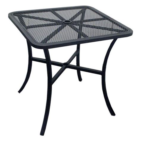 steel outdoor square mesh table drdhc7930s