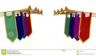 Medieval Trumpet Fanfare Clip Art