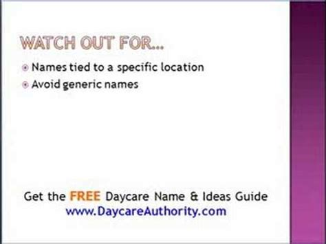 daycare names and ideas 955 | hqdefault