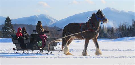 ny lake sleigh rides george adirondacks horseback riding placid lakeplacid snow winter village adirondack ride york