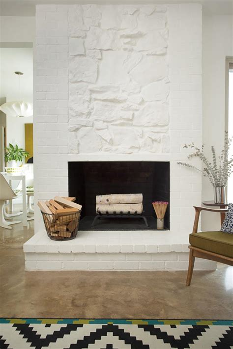 sponge painting brick fireplace before after and adam fish s dallas makeover