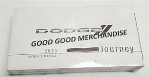 2015 Dodge Journey Owners Manual User Guide Limited R  T
