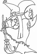 Witch Coloring Pages Halloween Scary Witches Printable Template Coloring4free Sheet Hocus Pocus These Hat Sheets Legs Vampire Face Popular Beings sketch template
