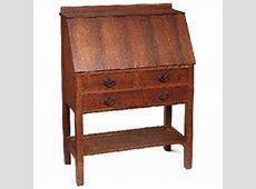 Gustav Stickley desk #731, drop front form