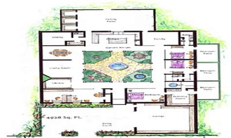 home layouts house plans with atrium garden homes with atriums floor
