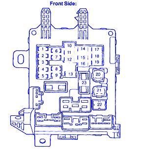 1999 Toyotum Corolla Fuse Box Diagram by Toyota Corolla Ce 2006 Engine Fuse Box Block Circuit