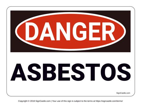asbestos warning signs poster template