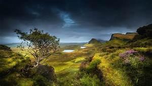Wallpaper, Scotland, Highland, Region, Summer, Hills, Valley