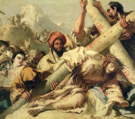 fall on the way to calvary painting by g tiepolo