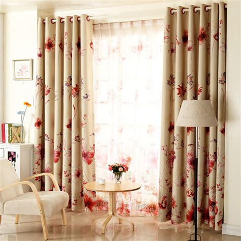 red  beige curtains  kitchen curtain largest homes hub