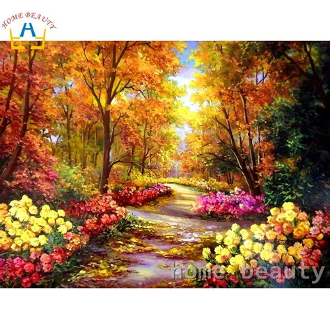 diy oil painting  numbers landscape wall decor canvas