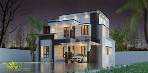 1675, Square, Feet, 3, Bhk, Double, Floor, Modern, Contemporary
