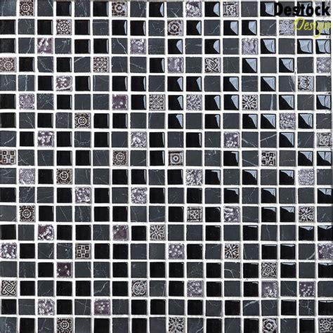 mosa 239 que mix noir et gris avec motifs salle de bain pas cher