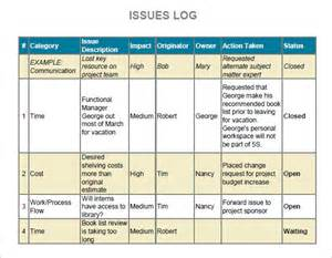 Issue Tracking Template Excel Issue Log Sle 6 Documents In Pdf Word