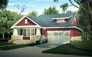 Craftsman Cottage With Sturdy Front Porch - 95019RW ...