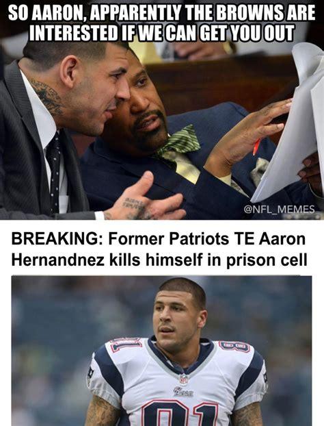 Hernandez Meme - social media reacts to aaron hernandez taking his own life in prison daily snark