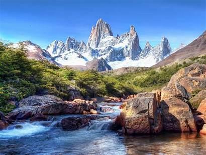 Mountain Rocky Mountains River Desktop Snow Rock
