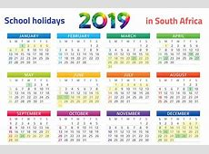 Yearly Calendar 2019 Template with SA Holidays Free