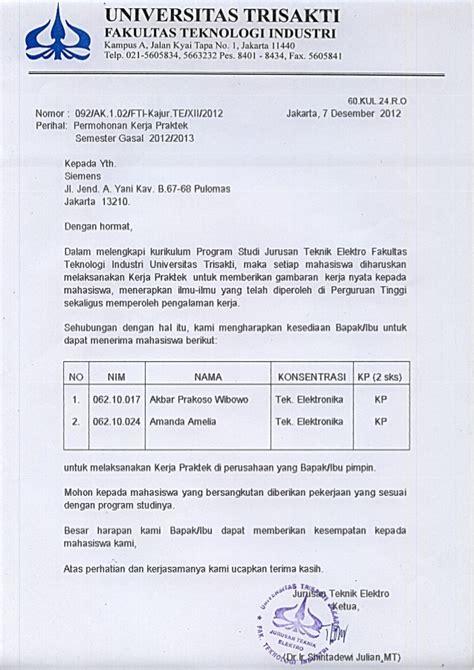 contoh surat balasan kerja praktek surat permohonan kerja praktek