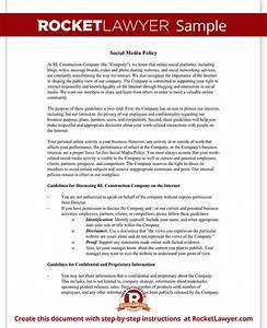 social media policy template company social media policy With social media policy template for schools