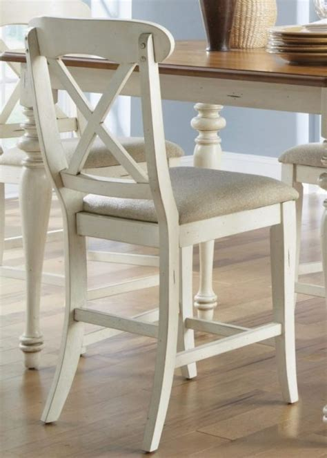Stools Design: glamorous white wood counter stools