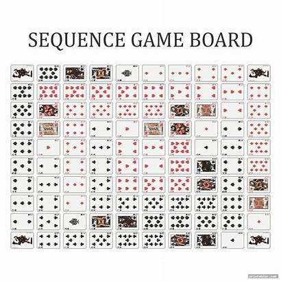 Sequence Board Printable Layout Template Printabler Games