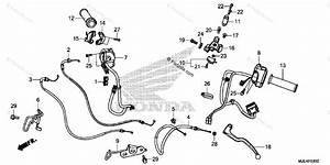 Honda Motorcycle 2016 Oem Parts Diagram For Handle Lever