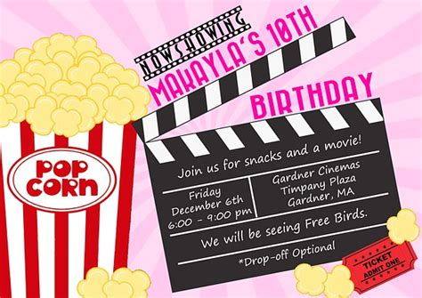 Movie Themed Birthday Party Invitations  Movies  Kids. Chemical Inventory List Template. Birthday Photo Frames Free. Award Ceremony Invitation. Excellent Free Cleaning Service Invoice Template. Template For Letter Of Interest. Free Excell Invoice Template. Christmas Gift Certificate Template. Corporate Event Invitation Wording