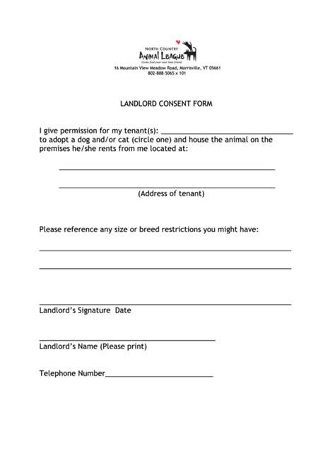 landlord consent form printable