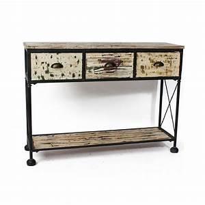 table rabattable cuisine paris meubles fer forge et bois With meuble bois fer forge