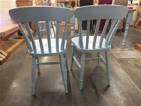 painted farmhouse slat back chairs f b lulworth blue buy