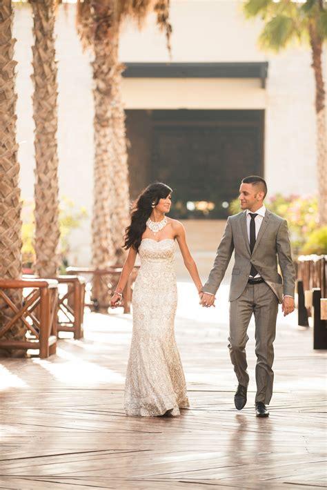 modern glamour sikh bride  groom reception attire