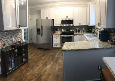 light french gray kitchen update  cabinet girls