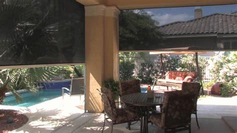 drop shade patio shades retractable solar screens las vegas youtube