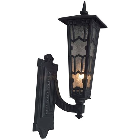 pair of outdoor edwardian cast iron sconces for sale at