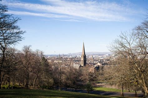 The view point by the flag pole at Queen's Park in Glasgow ...