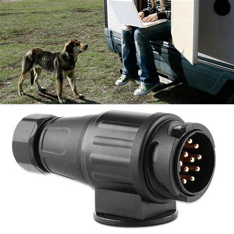 12v 13 electric trailer caravan plug plastic 13 pole wiring connector adapter black car