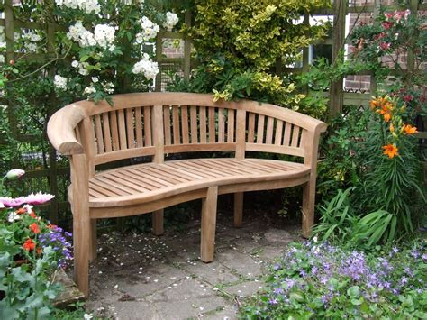 garden bench for curved teak garden bench bali