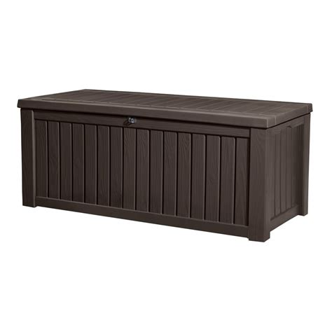 Keter Deck Box 150 Gallon keter 150 gal rockwood deck box lowe s canada