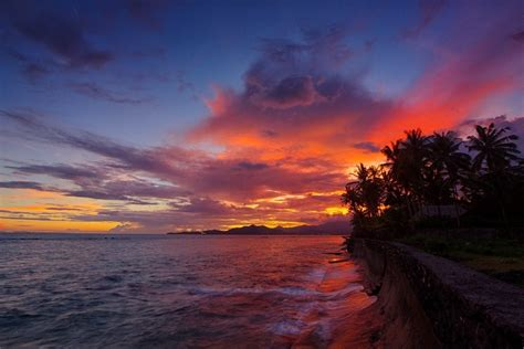 pantai  menikmati sunrise   pulau bali