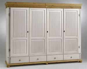 Kleiderschrank Antik Weiß : kleiderschrank 4 t rig wei antik kiefer massiv poarta ~ Frokenaadalensverden.com Haus und Dekorationen