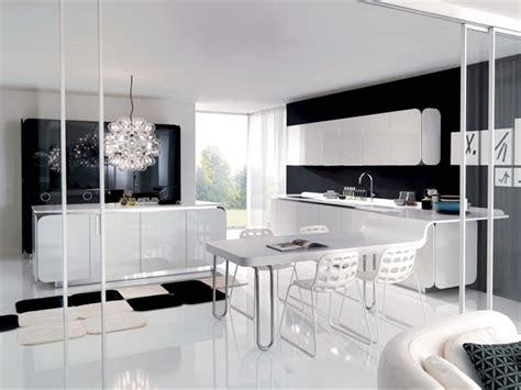cocinas en blanco  negro colores en casa