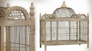 Cage Oiseau Deco : cage oiseaux en bois deco visuel 1 ~ Teatrodelosmanantiales.com Idées de Décoration