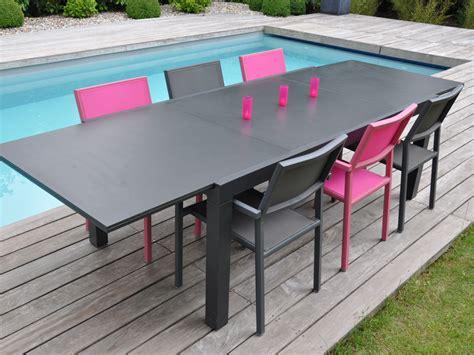 salon de jardin en aluminium salon de jardin en aluminium quot factory quot 1 table 6 8 assises au choix 55420