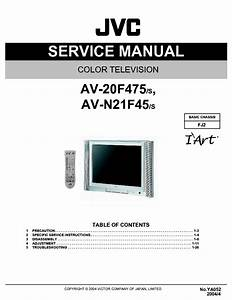 Jvc Av 20f475 Av N21f45 Color Tv Schematic Diagram