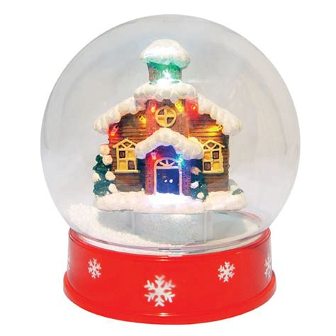 china 9 quot mini snow globe with led house a27909 p1