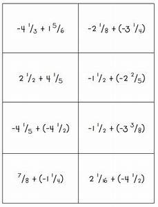 Adding Rational Numbers (Positive & Negative Fractions ...