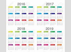 2016 2017 2018 Calendar Calendar Template 2018